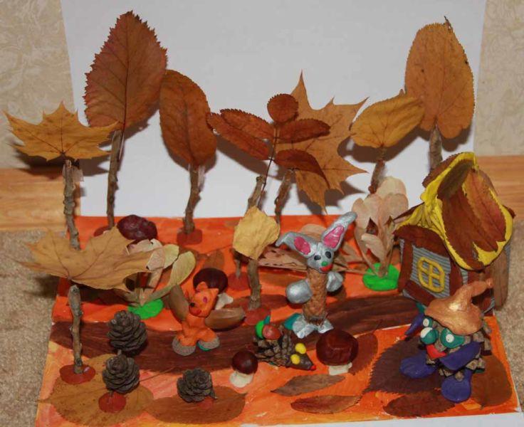Поделки из природного материала на тему осень в школу и для детского сада. 66 интересных и оригинальных идей этап 55