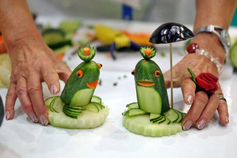 Поделки из овощей и фруктов своими руками для выставки. Самые красивые осенние поделки в детский сад и в школу этап 36