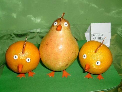Поделки из овощей и фруктов своими руками для выставки. Самые красивые осенние поделки в детский сад и в школу этап 37