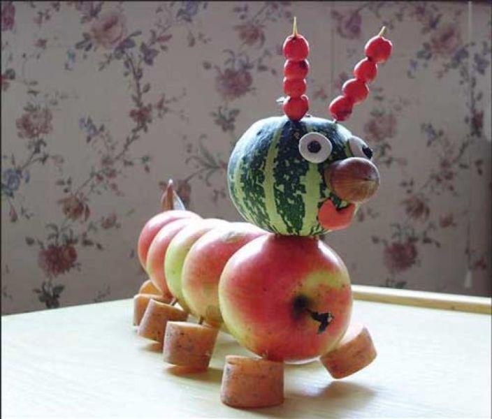 Поделки из овощей и фруктов своими руками для выставки. Самые красивые осенние поделки в детский сад и в школу этап 38
