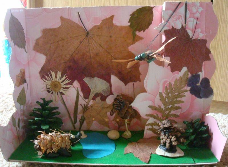 Поделки из природного материала на тему осень в школу и для детского сада. 66 интересных и оригинальных идей этап 30