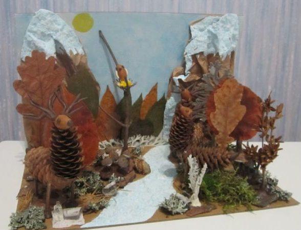 Поделки из природного материала на тему осень в школу и для детского сада. 66 интересных и оригинальных идей этап 31