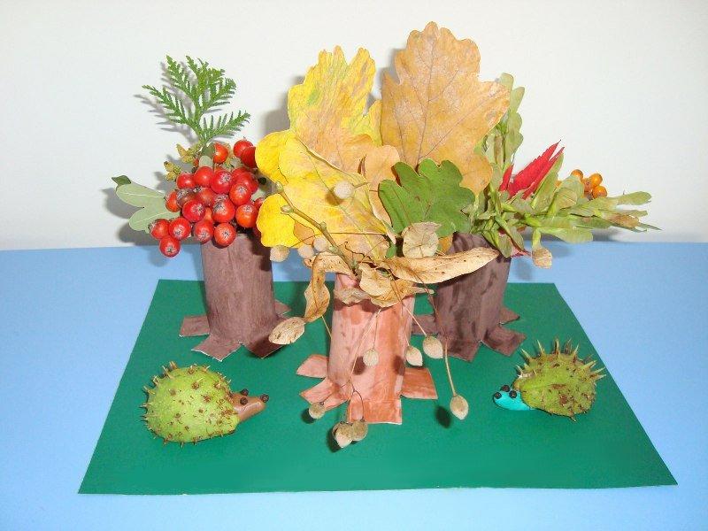 Поделки из природного материала на тему осень в школу и для детского сада. 66 интересных и оригинальных идей этап 32
