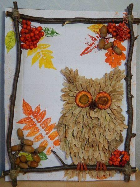 Поделки из природного материала на тему осень в школу и для детского сада. 66 интересных и оригинальных идей этап 33