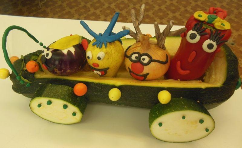 Поделки из овощей и фруктов своими руками для выставки. Самые красивые осенние поделки в детский сад и в школу этап 7