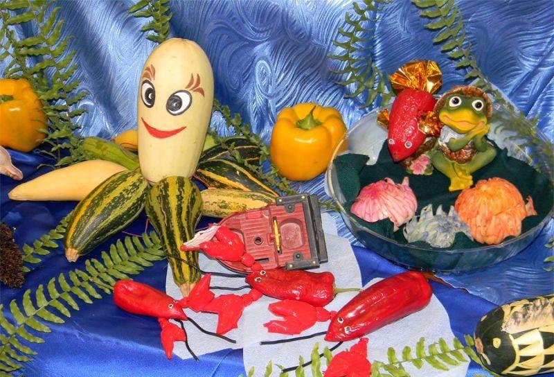 Поделки из овощей и фруктов своими руками для выставки. Самые красивые осенние поделки в детский сад и в школу этап 10