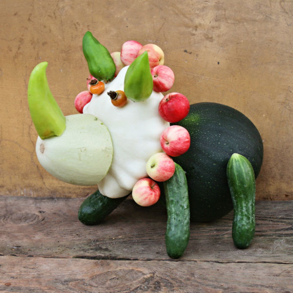 Поделка картинки из овощей