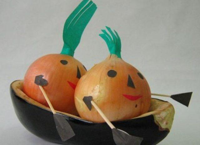 Поделки из овощей и фруктов своими руками для выставки. Самые красивые осенние поделки в детский сад и в школу этап 54