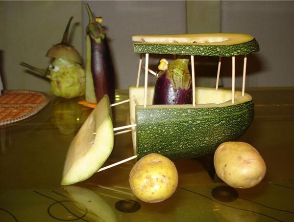 Поделки из овощей и фруктов своими руками для выставки. Самые красивые осенние поделки в детский сад и в школу этап 57