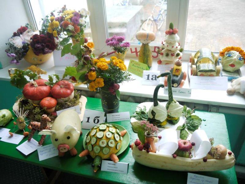 Поделки из овощей и фруктов своими руками для выставки. Самые красивые осенние поделки в детский сад и в школу этап 59