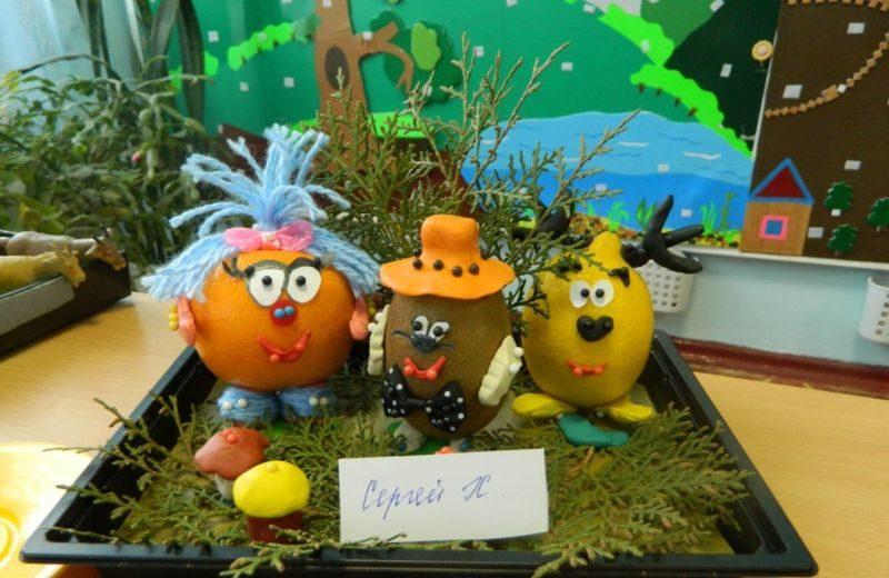 Поделки из овощей и фруктов своими руками для выставки. Самые красивые осенние поделки в детский сад и в школу этап 20