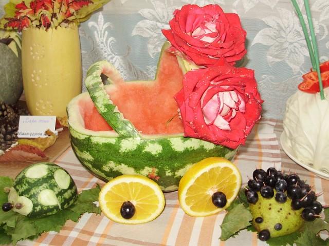 Поделки из овощей и фруктов своими руками для выставки. Самые красивые осенние поделки в детский сад и в школу этап 22