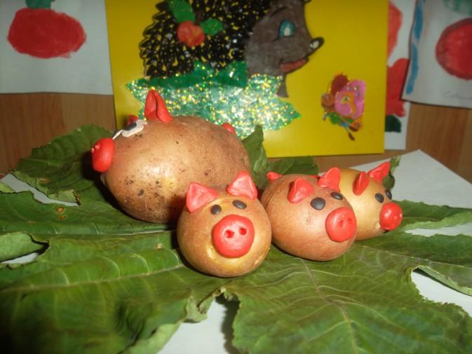 Поделки из овощей и фруктов своими руками для выставки. Самые красивые осенние поделки в детский сад и в школу этап 24