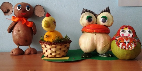 Поделки из овощей и фруктов своими руками для выставки. Самые красивые осенние поделки в детский сад и в школу этап 25