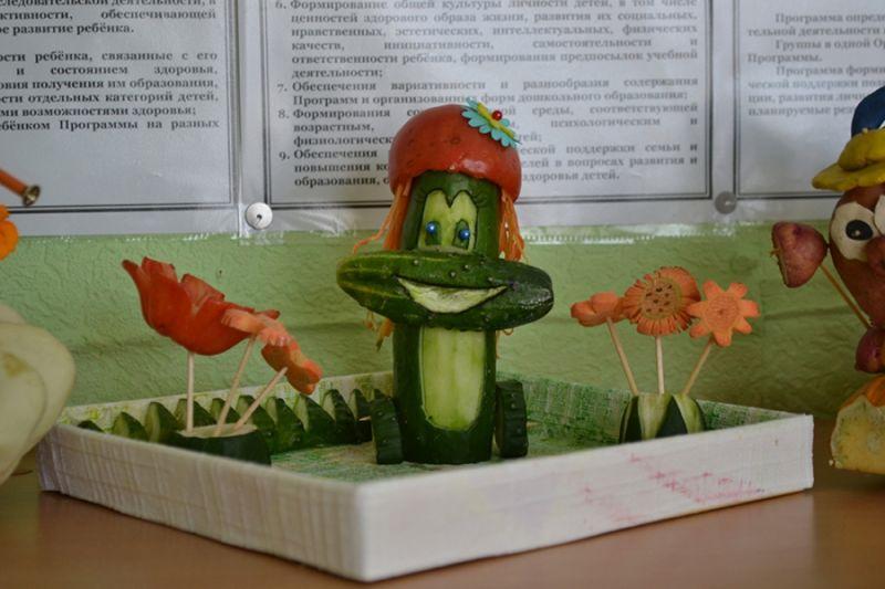 Поделки из овощей и фруктов своими руками для выставки. Самые красивые осенние поделки в детский сад и в школу этап 26