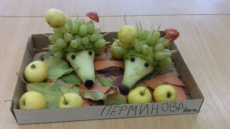 Поделки из овощей и фруктов своими руками для выставки. Самые красивые осенние поделки в детский сад и в школу этап 13