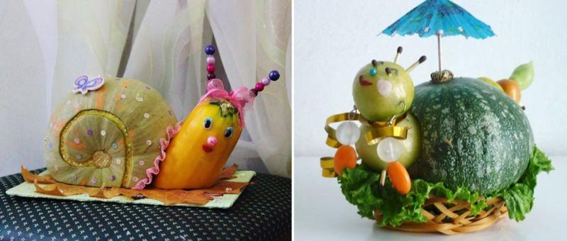 Поделки из овощей и фруктов своими руками для выставки. Самые красивые осенние поделки в детский сад и в школу этап 14