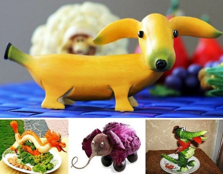 Поделки из овощей и фруктов своими руками для выставки. Самые красивые осенние поделки в детский сад и в школу этап 15