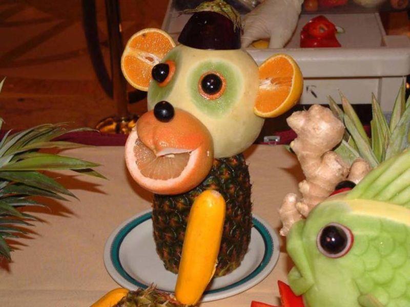 Поделки из овощей и фруктов своими руками для выставки. Самые красивые осенние поделки в детский сад и в школу этап 16