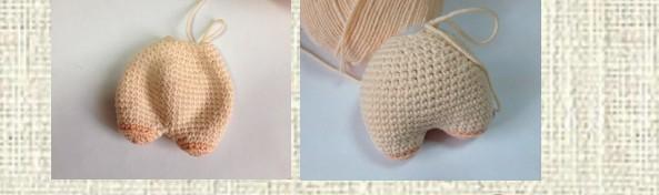 Вязаные свинки (хрюшки) крючком со схемами и описанием. Подборка игрушек амигуруми ручной работы этап 86