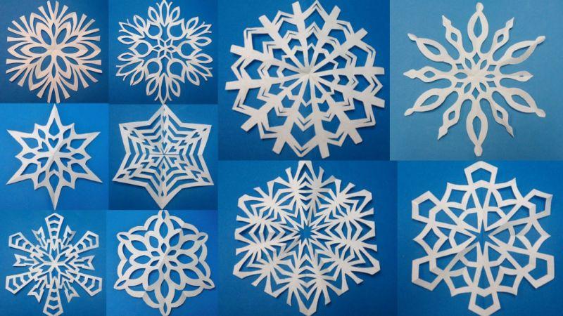 Снежинки из бумаги: шаблоны для вырезания + схемы. Скачивай и распечатывай!