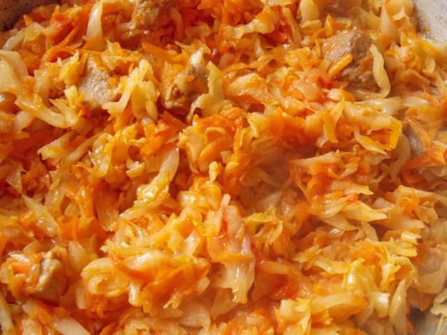 Капуста тушеная — 10 рецептов очень вкусной тушеной капусты этап 54
