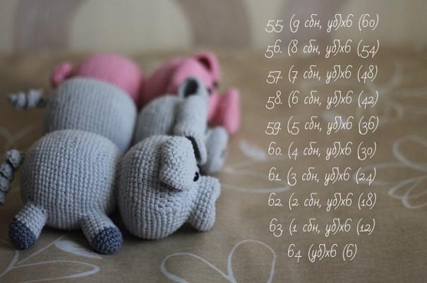 Вязаные свинки (хрюшки) крючком со схемами и описанием. Подборка игрушек амигуруми ручной работы этап 30