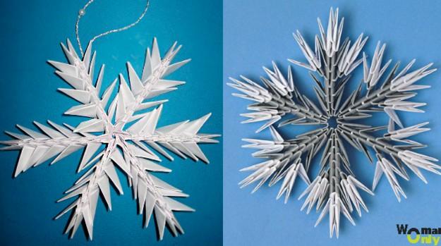 Снежинки из бумаги: шаблоны для вырезания + схемы. Скачивай и распечатывай! этап 31
