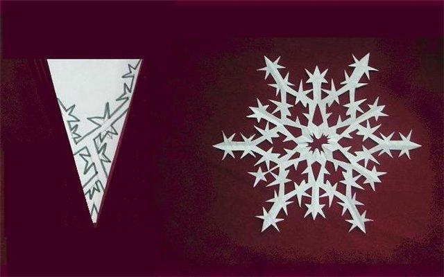 Снежинки из бумаги: шаблоны для вырезания + схемы. Скачивай и распечатывай! этап 66