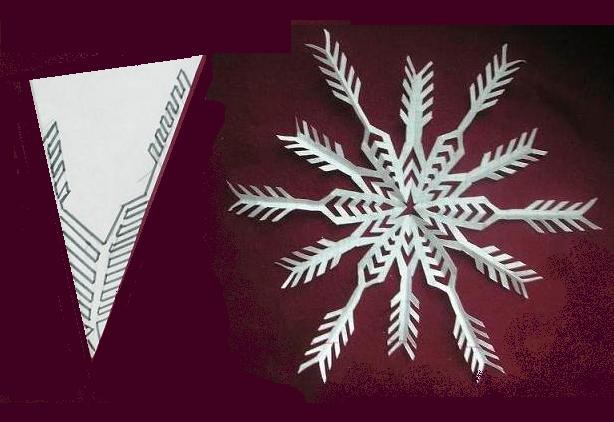 Снежинки из бумаги: шаблоны для вырезания + схемы. Скачивай и распечатывай! этап 67