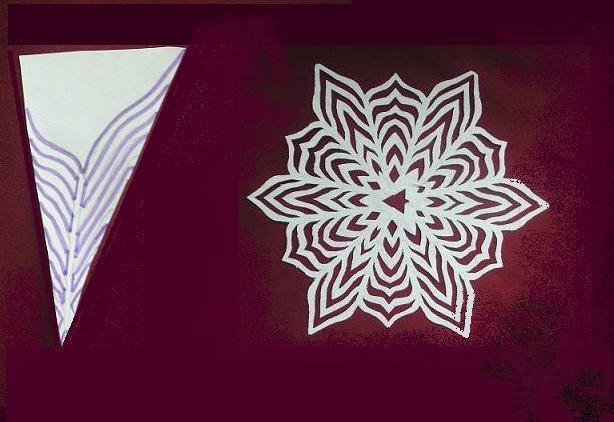 Снежинки из бумаги: шаблоны для вырезания + схемы. Скачивай и распечатывай! этап 68