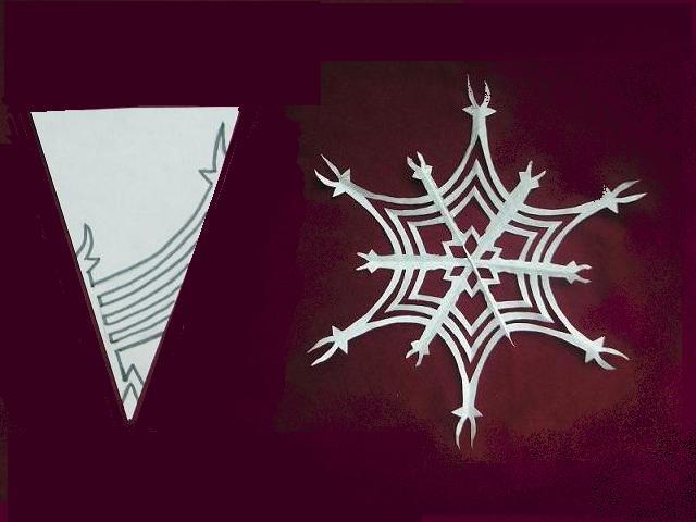Снежинки из бумаги: шаблоны для вырезания + схемы. Скачивай и распечатывай! этап 69