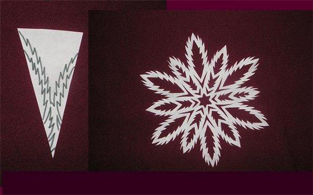 Снежинки из бумаги: шаблоны для вырезания + схемы. Скачивай и распечатывай! этап 70