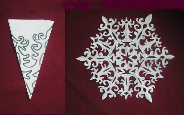 Снежинки из бумаги: шаблоны для вырезания + схемы. Скачивай и распечатывай! этап 71