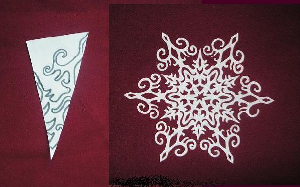 Снежинки из бумаги: шаблоны для вырезания + схемы. Скачивай и распечатывай! этап 64