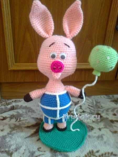 Вязаные свинки (хрюшки) крючком со схемами и описанием. Подборка игрушек амигуруми ручной работы этап 39