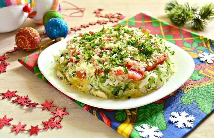 Салаты на Новый год 2021. Простые и вкусные рецепты новогодних салатов этап 32