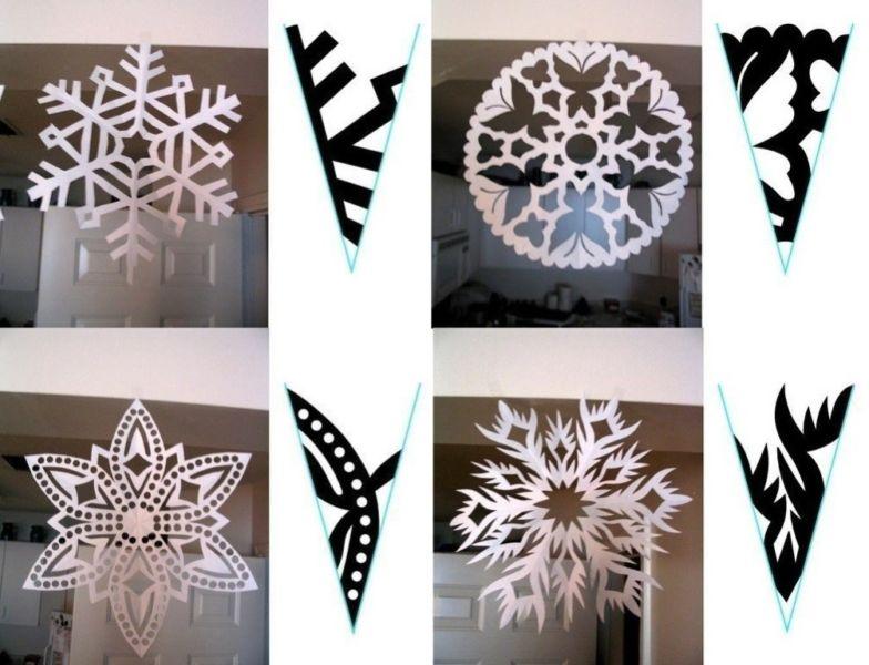 Снежинки из бумаги: шаблоны для вырезания + схемы. Скачивай и распечатывай! этап 72