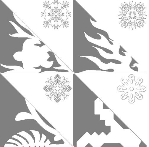 Снежинки из бумаги: шаблоны для вырезания + схемы. Скачивай и распечатывай! этап 61