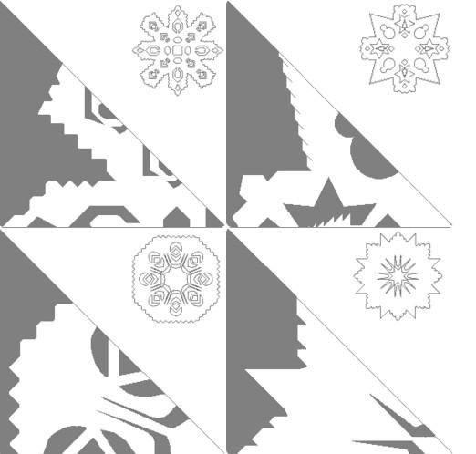 Снежинки из бумаги: шаблоны для вырезания + схемы. Скачивай и распечатывай! этап 63