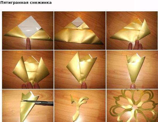 Снежинки из бумаги: шаблоны для вырезания + схемы. Скачивай и распечатывай! этап 3