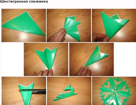 Снежинки из бумаги: шаблоны для вырезания + схемы. Скачивай и распечатывай! этап 4