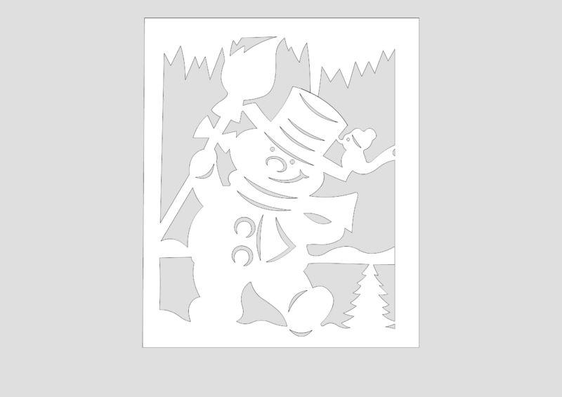 Украшения на окна из бумаги к Новому году 2021. Трафареты и шаблоны новогодних украшений этап 23