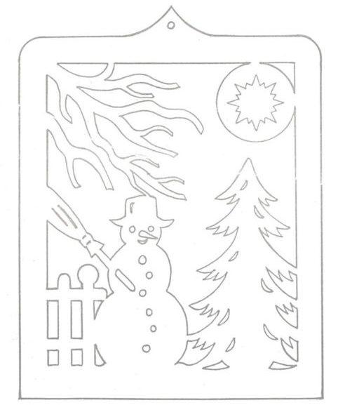 Украшения на окна из бумаги к Новому году 2021. Трафареты и шаблоны новогодних украшений этап 28