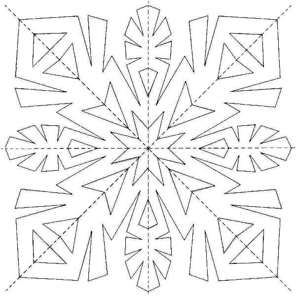 Снежинки из бумаги: шаблоны для вырезания + схемы. Скачивай и распечатывай! этап 43