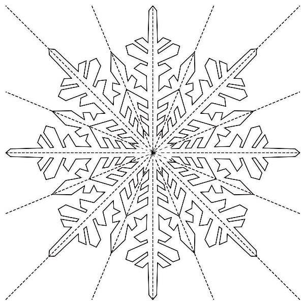 Снежинки из бумаги: шаблоны для вырезания + схемы. Скачивай и распечатывай! этап 44