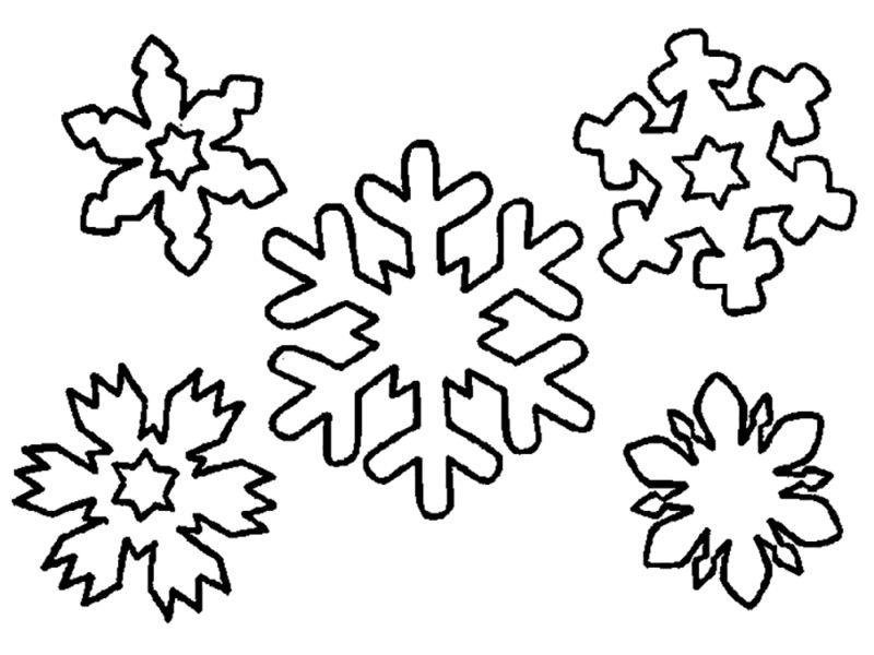 Снежинки для детей картинки для вырезания