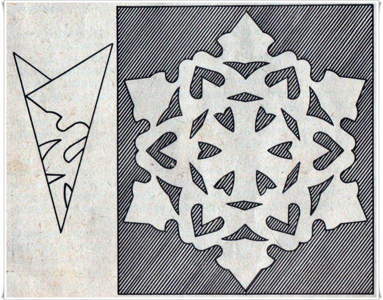 Снежинки из бумаги: шаблоны для вырезания + схемы. Скачивай и распечатывай! этап 48