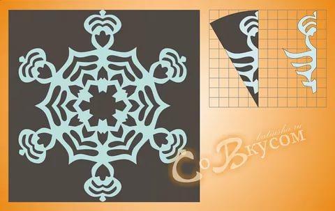 Снежинки из бумаги: шаблоны для вырезания + схемы. Скачивай и распечатывай! этап 50