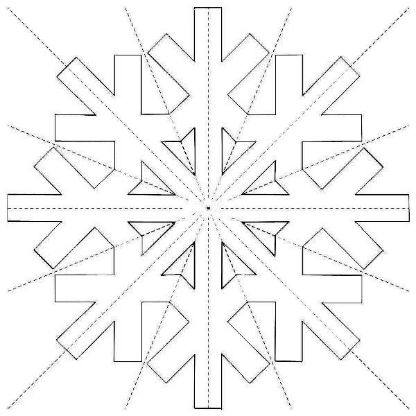 Снежинки из бумаги: шаблоны для вырезания + схемы. Скачивай и распечатывай! этап 42